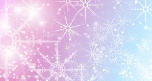 Priorità bassa astratta di natale con i fiocchi di neve Fotografie Stock Libere da Diritti