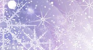Priorità bassa astratta di natale con i fiocchi di neve Immagine Stock Libera da Diritti