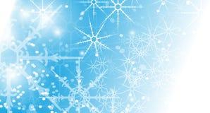 Priorità bassa astratta di natale con i fiocchi di neve Fotografia Stock