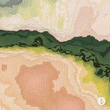 Priorità bassa astratta di paesaggio mosaico 3d Fotografia Stock