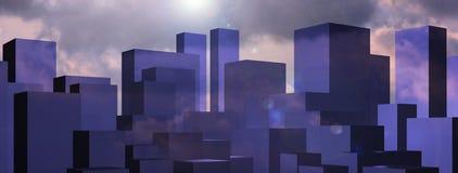 Priorità bassa astratta di paesaggio urbano Illustrazione di Stock