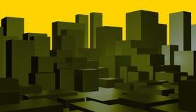 Priorità bassa astratta di paesaggio urbano Illustrazione Vettoriale