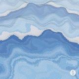 Priorità bassa astratta di paesaggio Vettore del mosaico Fotografia Stock Libera da Diritti