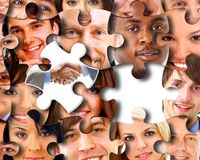 Priorità bassa astratta di puzzle Fotografia Stock Libera da Diritti