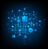 Priorità bassa astratta di tecnologia Immagine Stock