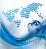 Priorità bassa astratta di tecnologia con il globo Immagini Stock Libere da Diritti