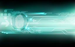 Priorità bassa astratta di tecnologia Concetto di sistema di sicurezza illustrazione vettoriale