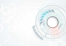 Priorità bassa astratta di tecnologia Contesto con molti piccoli elementi di tecnologia illustrazione vettoriale