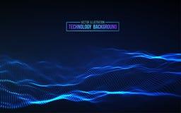 Priorità bassa astratta di tecnologia Griglia del fondo 3d Wireframe futuristico di tecnologia di Ai di tecnologia della rete cyb Immagini Stock Libere da Diritti