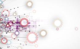 Priorità bassa astratta di tecnologia Interfaccia futuristica di tecnologia Immagini Stock Libere da Diritti