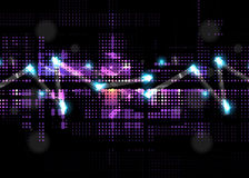 Priorità bassa astratta di tecnologia Interfaccia futuristica di tecnologia Immagine Stock