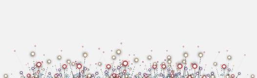 Priorità bassa astratta di tecnologia Interfaccia futuristica di tecnologia Fotografie Stock