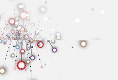 Priorità bassa astratta di tecnologia Interfaccia futuristica di tecnologia Fotografia Stock Libera da Diritti