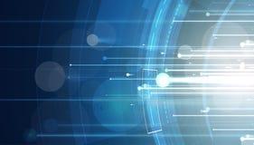 Priorità bassa astratta di tecnologia Interfaccia futuristica di tecnologia Immagine Stock Libera da Diritti