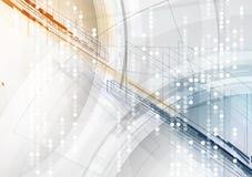 Priorità bassa astratta di tecnologia Interfaccia futuristica di tecnologia Vecto royalty illustrazione gratis