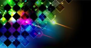 Priorità bassa astratta di tecnologia Interfaccia futuristica di tecnologia Vettore Fotografie Stock