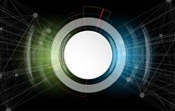 Priorità bassa astratta di tecnologia Interfaccia futuristica di tecnologia Vettore Fotografie Stock Libere da Diritti