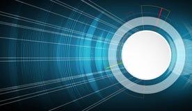 Priorità bassa astratta di tecnologia Interfaccia futuristica di tecnologia Vettore Fotografia Stock