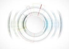 Priorità bassa astratta di tecnologia Interfaccia futuristica di tecnologia Vettore Fotografia Stock Libera da Diritti