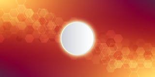 Priorità bassa astratta di tecnologia Struttura geometrica con le strutture molecolari e l'ingegneria chimica Estratto illustrazione vettoriale