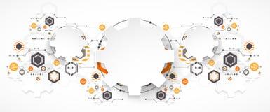 Priorità bassa astratta di tecnologia Tema delle ruote dentate illustrazione di stock