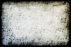 Priorità bassa astratta di tema di Grunge di musica Immagini Stock