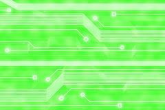 Priorità bassa astratta di verde di tecnologia Fotografia Stock Libera da Diritti