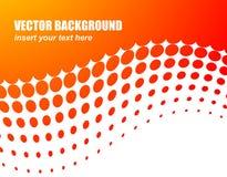 Priorità bassa astratta di vettore con il cerchio arancione Fotografie Stock Libere da Diritti