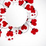 Priorità bassa astratta di vettore Fiori fatti con forma del cuore royalty illustrazione gratis