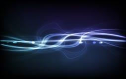 Priorità bassa astratta di vettore - indicatori luminosi trasparenti Fotografia Stock Libera da Diritti