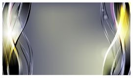 Priorità bassa astratta di vettore Onde curve luminose per annunciare Righe d'ardore illustrazione vettoriale
