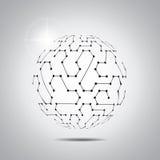 Priorità bassa astratta di vettore Stile futuristico di tecnologia Fondo elegante per le presentazioni di tecnologia di affari Immagini Stock