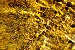 Priorità bassa astratta dorata dell'acqua Immagine Stock Libera da Diritti