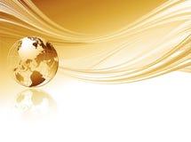 Priorità bassa astratta elegante di affari con il globo Immagine Stock