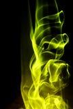 Priorità bassa astratta - figura gialla del fuoco Fotografia Stock