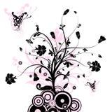 Priorità bassa astratta floreale,   illustrazione vettoriale