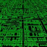 Priorità bassa astratta futuristica verde Fotografia Stock