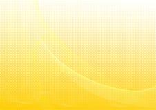 Priorità bassa astratta gialla con le onde Immagine Stock Libera da Diritti