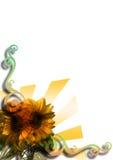 Priorità bassa astratta - girasole royalty illustrazione gratis