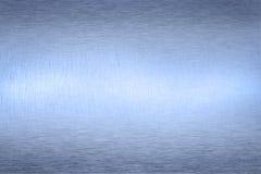 Priorità bassa astratta metallica blu Fotografia Stock