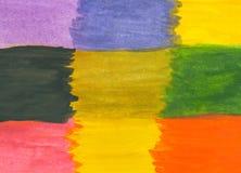 Priorità bassa astratta multicolore Pittura dell'acquerello Illustrazione illustrazione di stock