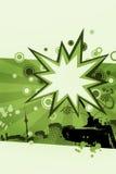 Priorità bassa astratta nel verde Fotografia Stock