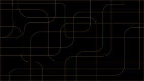 Priorità bassa astratta nera Forme geometriche irregolari, colore giallo Vector l'illustrazione per fondo, la carta da parati, we Fotografia Stock