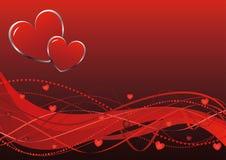 Priorità bassa astratta - onde di giorno del biglietto di S. Valentino Immagine Stock