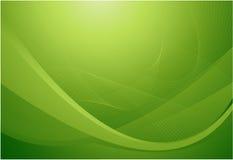 Priorità bassa astratta ondulata verde Immagine Stock