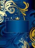 priorità bassa astratta Oro-blu illustrazione di stock