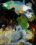 Priorità bassa astratta, pitture ad olio tavolozza di arte di acrilico, pitture ad olio fondo scenico variopinto astratto fotografia stock