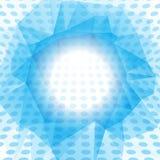 Priorità bassa astratta punteggiata blu Fotografia Stock