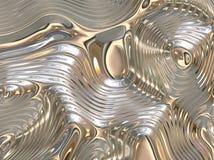 Priorità bassa astratta scorrente liquida lenitiva del metallo Fotografia Stock Libera da Diritti