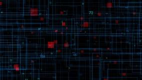 Priorità bassa astratta variopinta Codice digitale di grandi dati stock footage